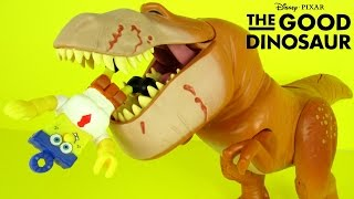 THE GOOD DINOSAUR MOVIE GALLOPING BUTCH EATS SPONGEBOB IMAGINEXT Funny Toy Review Family Video