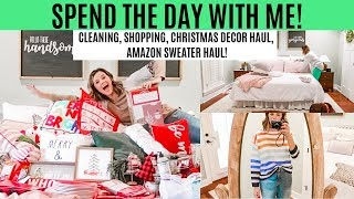 CHRISTMAS DECOR HAUL 2019 // CLEAN WITH ME, SHOP WITH ME, SPEND THE DAY WITH ME // Amy Darley