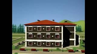 видео Проект мини гостиницы на 4 номера (Семейный отель)