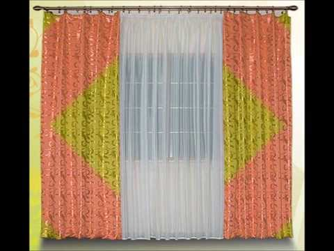 Недорогие шторы для зала. Красивые шторы из портьерной ткани.