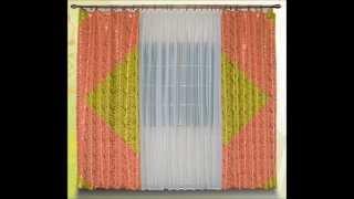 Недорогие шторы для зала. Красивые шторы из портьерной ткани.(, 2015-11-19T20:25:00.000Z)