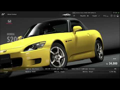Grand Turismo Sport - T300RS: - Car buying - Honda S2000