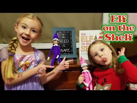 Purple & Pink Elf on the Shelf - Madison Names Her CookieSwirlC??! Day 2