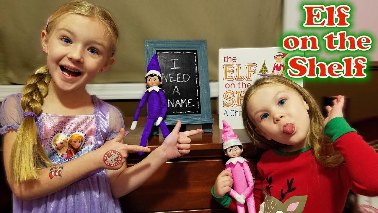 Purple Amp Pink Elf On The Shelf Madison Names Her