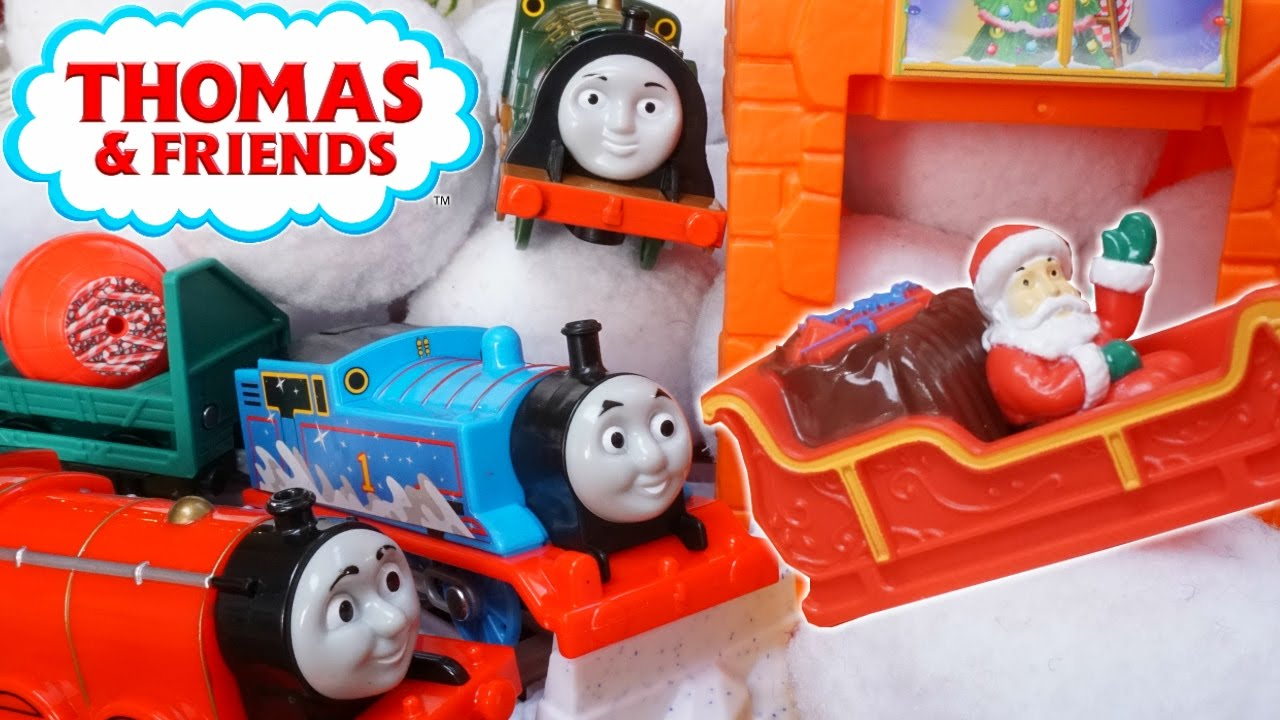Thomas The Train Christmas Tree.Thomas And Friends Trackmaster Pulls Santa Claus Christmas Tree Track Candy Cane Factory Snow Trains