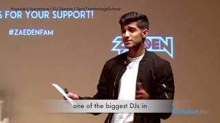 Download DJ Zaeden at the Heritage School TEDx filmed by EducationWorld Films Mp3 and Videos