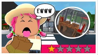 I Went to The WORST REVIEWED Resturant in Bloxburg || ROBLOX BLOXBURG