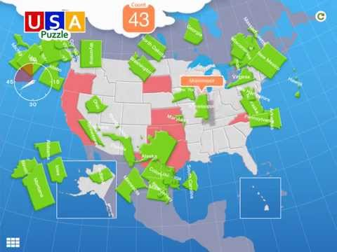Usa map puzzle android apps on google play gumiabroncs Choice Image