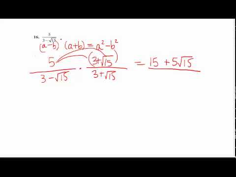 Rationalize The Denominator With Two Terms