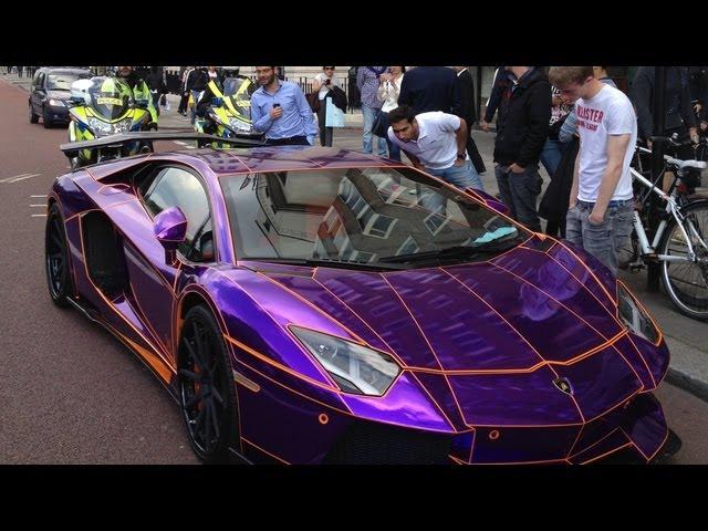 Video Purple Lamborghini Aventador By Liberty Walk Seized In London