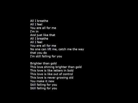Falling for you song lyrics