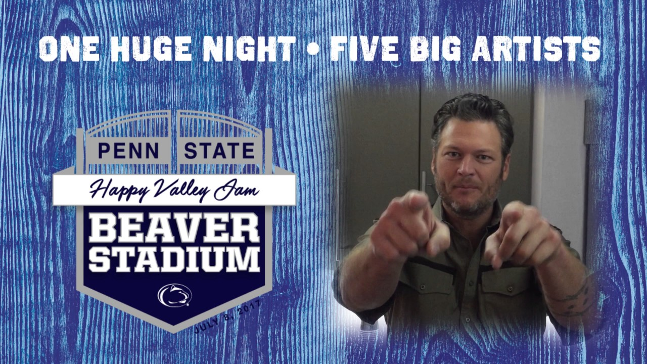 Blake Shelton at Penn State for the First-Ever Happy Valley Jam