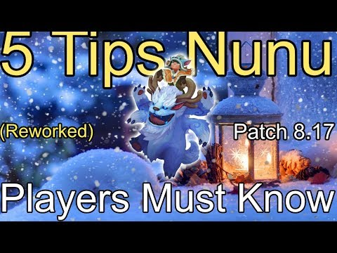 5 TIPS THAT EVERY (REWORKED) NUNU PLAYER MUST KNOW! League of Legends Guide Mid Top Jg