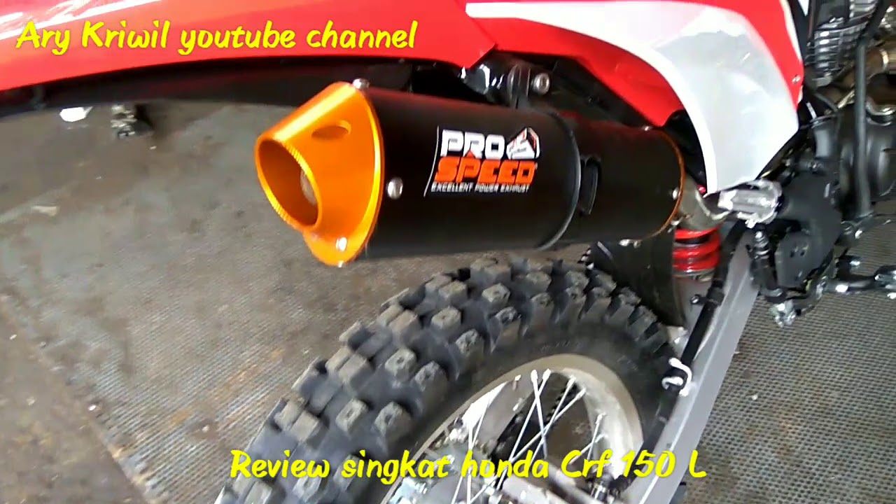 Review Honda CRF 150 L Modifikasi YouTube
