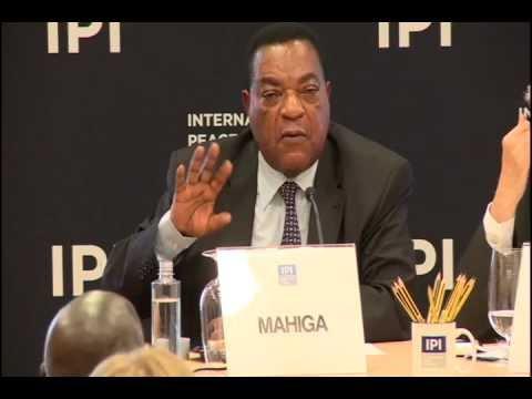Augustine Mahiga, UN SRSG for Somalia, at IPI