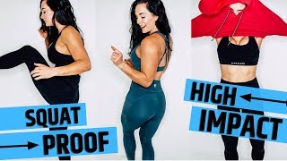 NEW GYM CLOTHES TRY ON HAUL | Alphalete HIGH IMPACT workout clothes