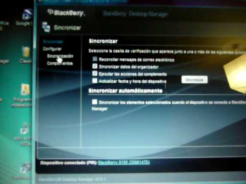 problema sincronizacion blackberry