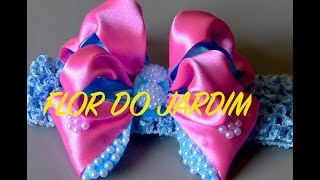 Laço de fita de cetim com volume – DIY – Satin ribbon bow with