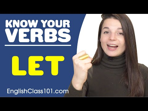 LET - Basic Verbs - Learn English Grammar