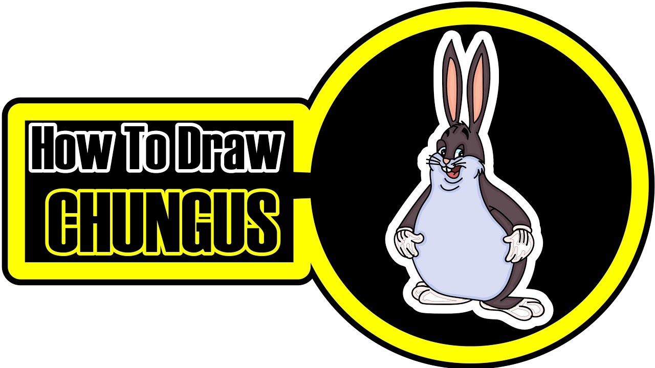 How To Draw Big Chungus Easy Step By Step Coloring Pages For Kids