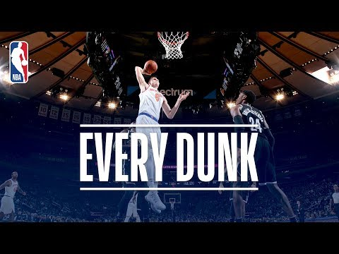 Kristaps Porzingis, Jimmy Butler and Every Dunk From Friday Night | October 27, 2017