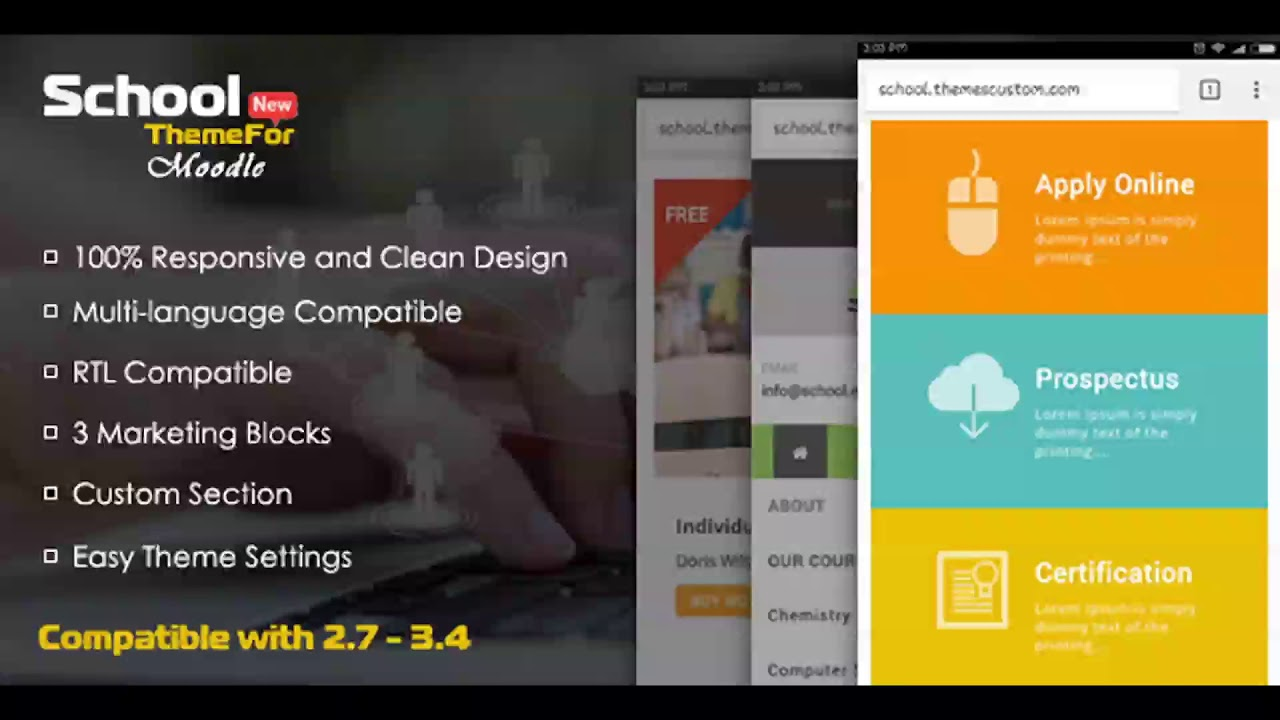 School - Exclusive Moodle Theme | Themeforest Website Templates and ...