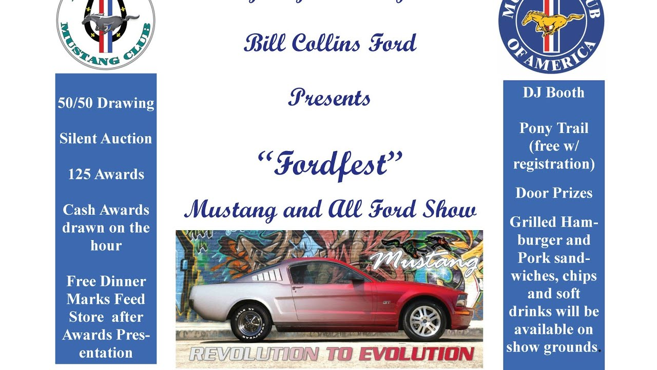 Ford Fest Car Show At Bill Collins Cord YouTube - Bill collins ford car show