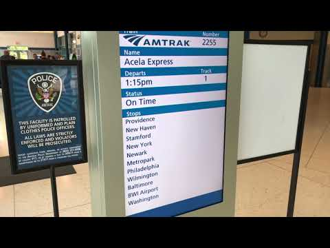 Acela Express Amtrak to Washington DC Union Station