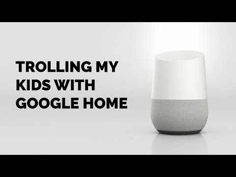 Brilliant dad uses Google Home to troll his kids