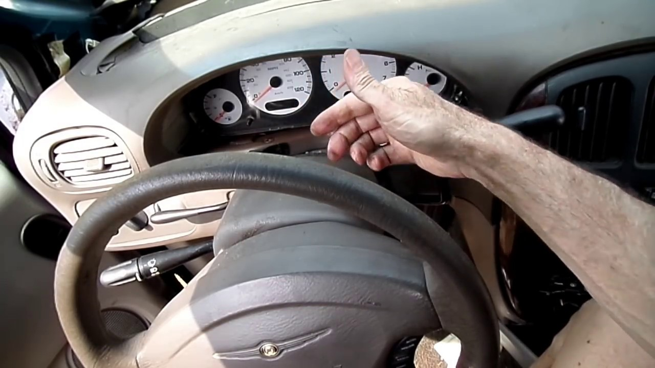 small resolution of dodge caravan voyager instrument cluster removal