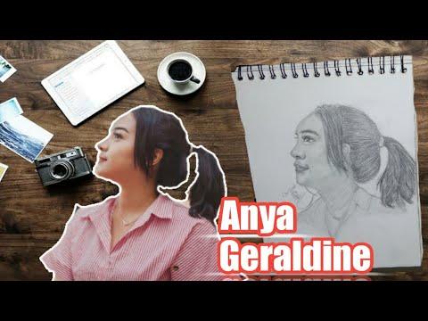 (drawing) Menggambar Wajah ANYA GERALDINE Dengan Pensil 2B