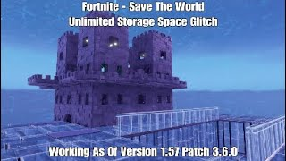 NEW!! - Fortnite - Save The World - UNLIMITED STORAGE SPACE GLITCH!!!