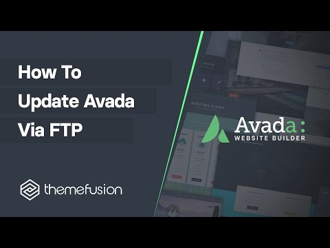 How To Update Avada via FTP video