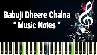 Babuji Dheere Chalna Full Video Tutorials (aar paar) Piano Notes /Midi File /Karaoke