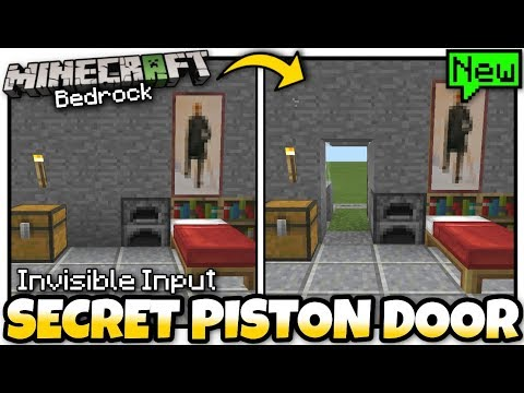 Minecraft - SECRET HIDDEN DOOR ( Invisible Input )[ Tutorial ] MCPE / Xbox / Bedrock / Switch
