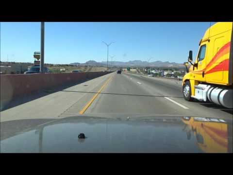 Driving through El Paso, TX on I-10 East