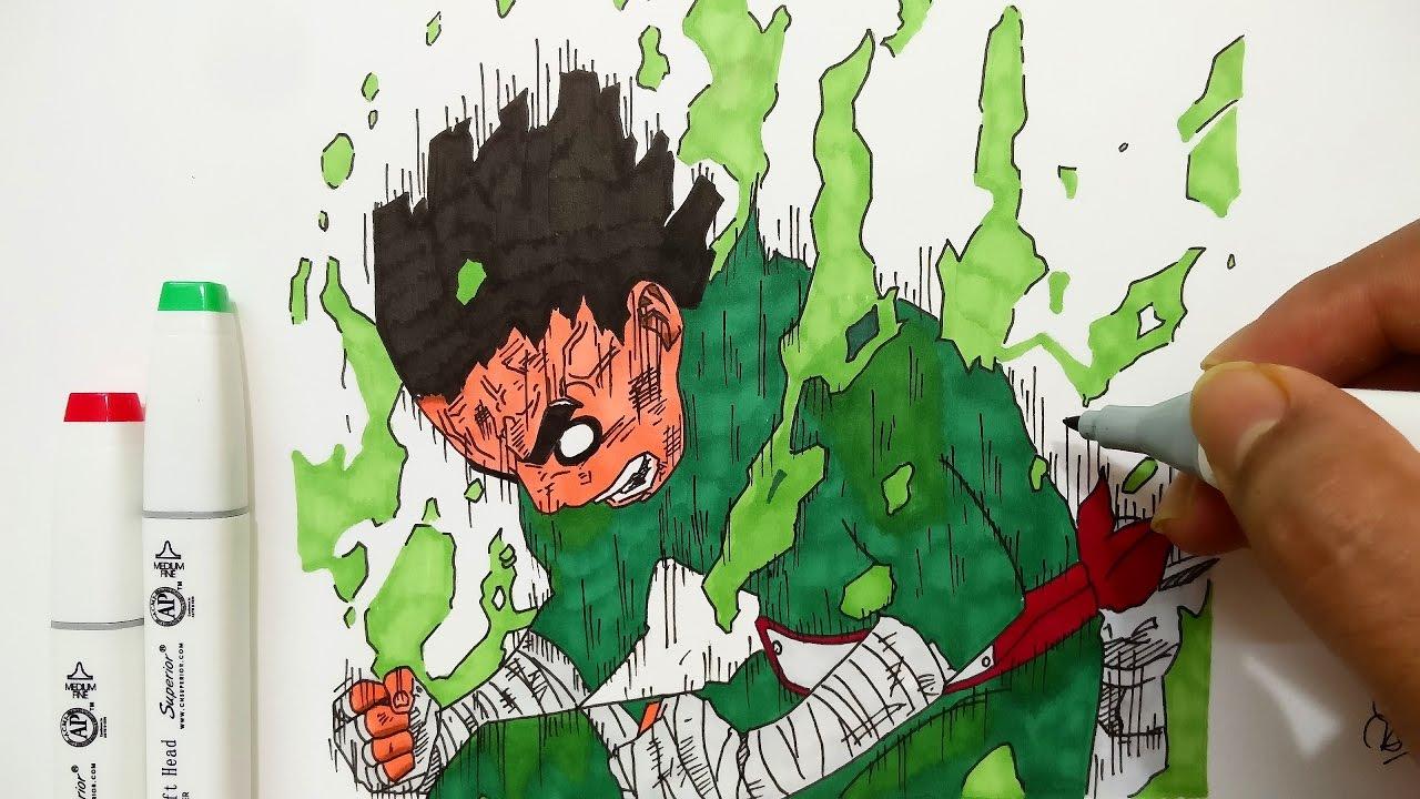 Drawing Lee - Naruto - YouTube