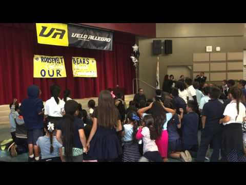 Bikes for Kids at Roosevelt Elementary School in Long Beach
