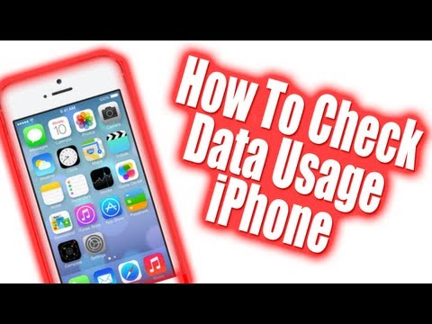 How To Check iPhone Data Usage - iOS 7