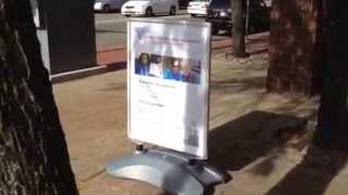 USES Sidewalk Signs