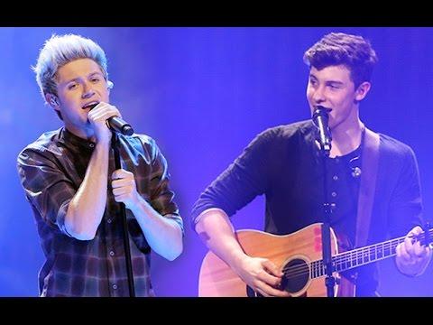 Shawn Mendes & Niall Horan singing