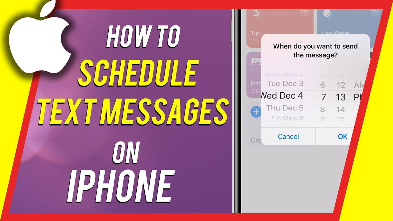 How To Schedule Text Messages On Iphone Youtube