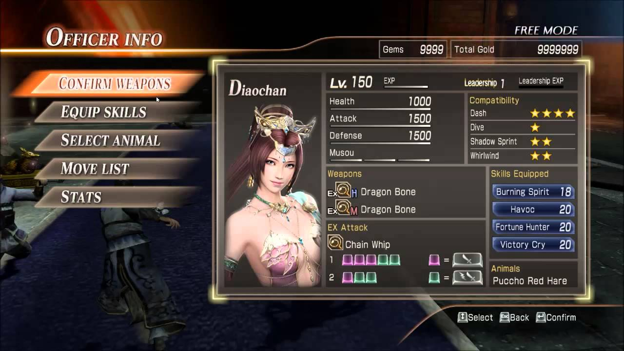cheats for dynasty warriors 8