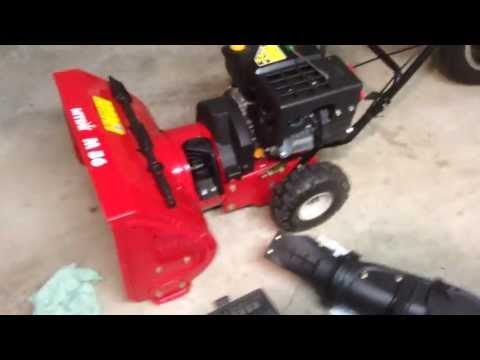 Snow Blowing With Troy Bilt Snow Blower With Impeller