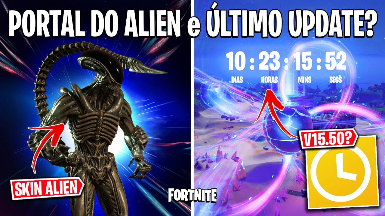 FORTNITE - SKIN XENOMORFO(ALIEN), TEASER FINAL e CHEFES DA TEMPORADA 6?