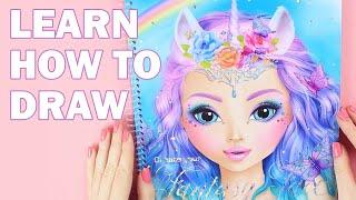 How to draw a Fantasy Face | TOPModel Gesicht malen || Foxy Draws