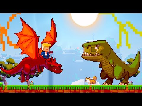 DONALD TRUMP FIGHTS A T-REX ?!?!?! | The SandBox Evolution