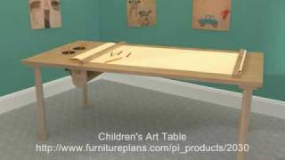 Children's Art Table Plans