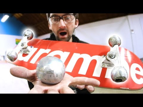 MIRROR-POLISHED FOIL BALL SKATEBOARD WHEELS!!!