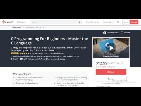 C Programming Tutorial for Beginners   Learn C programming   C language thumbnail